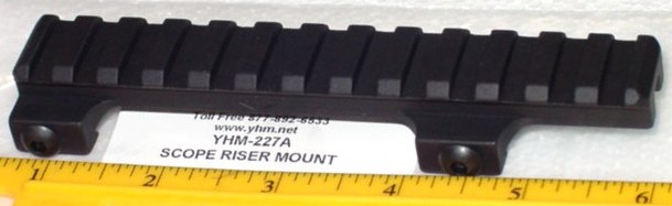 YHM 227A Scope Riser Mount 1/2