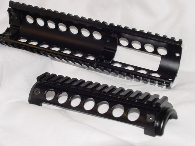 MCTAR 17X Four Picatinny Rail Handguard, Extended CAR Length