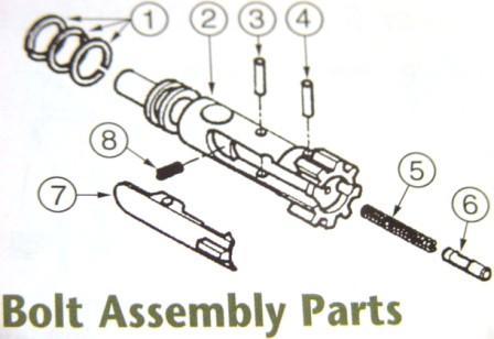 Extractor Spring Plunger Bolt Bolt Carrier Group Bcg Bolts Parts Shop Ar15 Parts M16 Parts Assault Rifles Tactical Gear M A Parts Inc